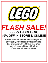 Lego Flash Sale - All Lego 10% Off In-store and Online
