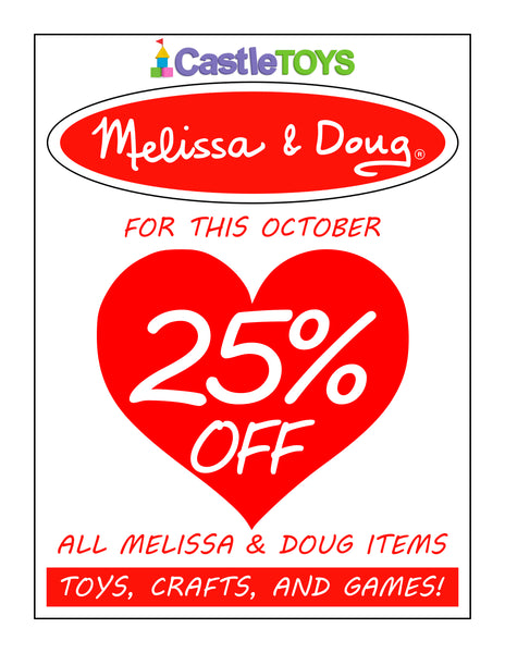 Melissa and Doug Items 25% Off