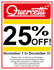 Quercetti 25% Off Sale Poster