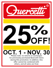 Quercetti 25% Off Sale from October to November