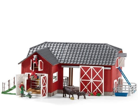 First Place Prize - Farm World: Large Red Barn with Animals and Accessories