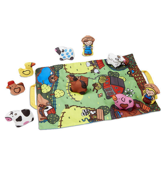Melissa & Doug 9216 Take Along Farm Play Mat