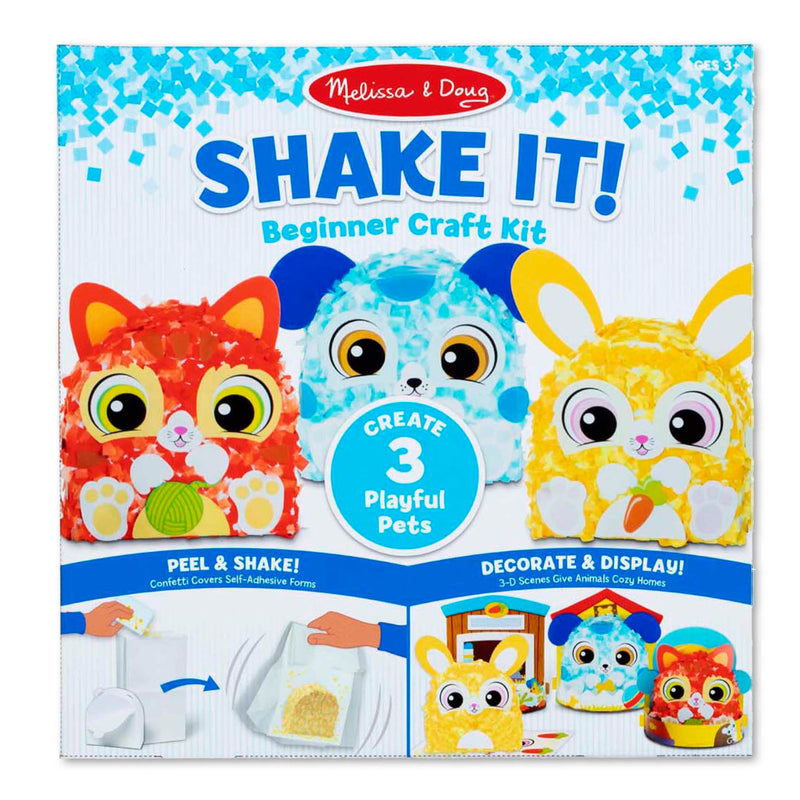 Melissa & Doug - 30184 | Shake It! Beginner Craft Kit: Deluxe Pets