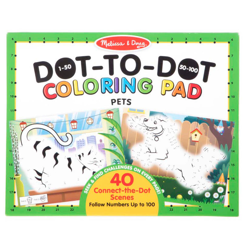 Melissa & Doug - 30261 | 123 Dot-to-Dot Coloring Pads: Pets