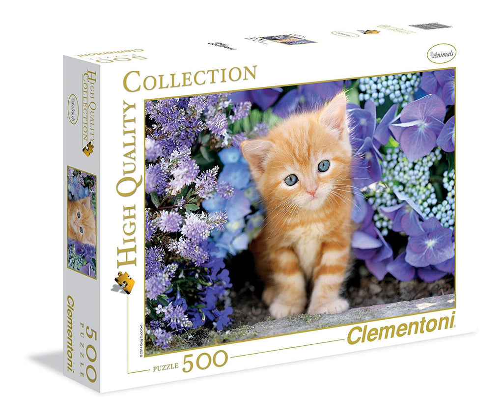 Clementoni 500 Pieces Puzzle Ginger Cat In Flowers