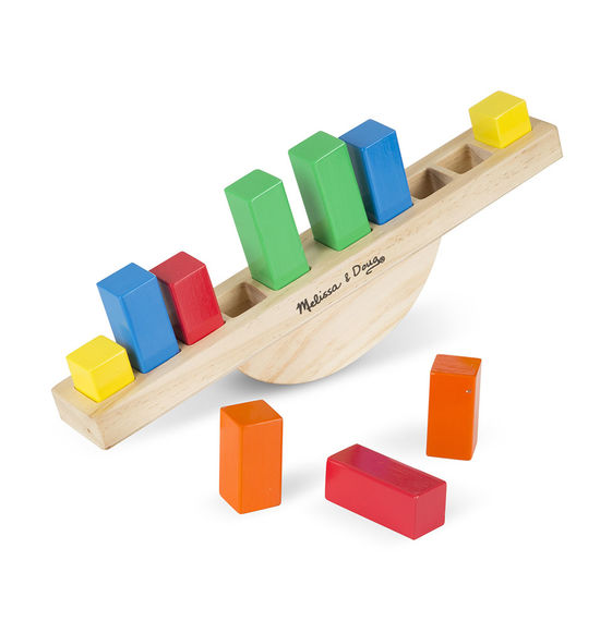 Melissa & Doug - 5197 | Wooden Rainbow Balance Scale Wobble Early Learning Montessori Toy