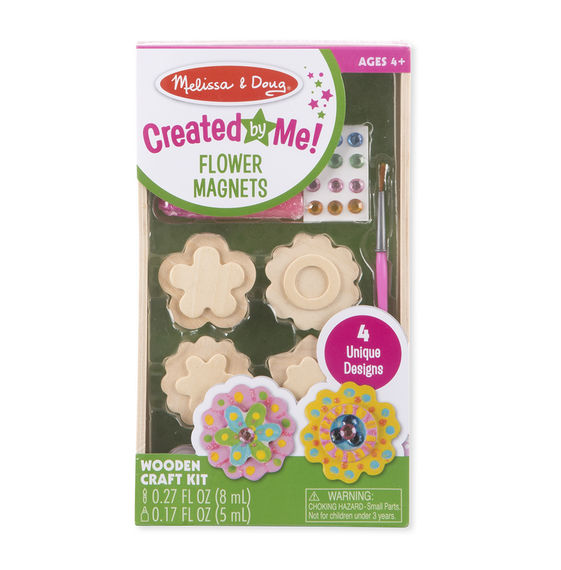 Melissa & Doug - 9582 | Created By Me: Flower Magnets Wooden Craft Kit