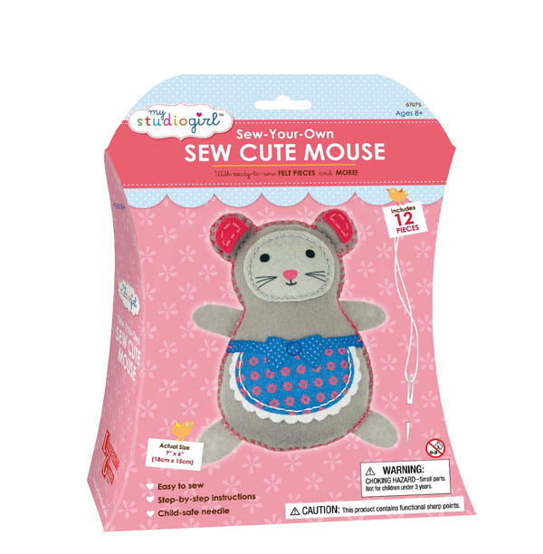 University Games - Sew-Your-Own Sew Cute Mouse