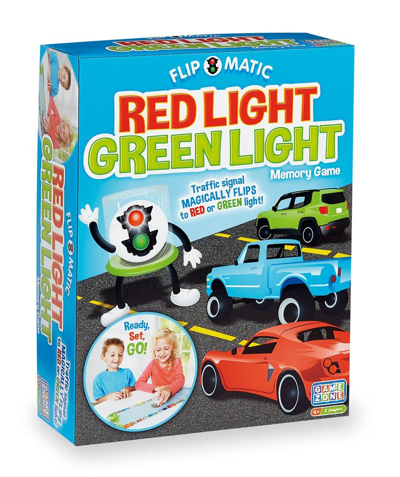 Game Zone P25121 Flip O Matic Red Light Green Light Memory Game