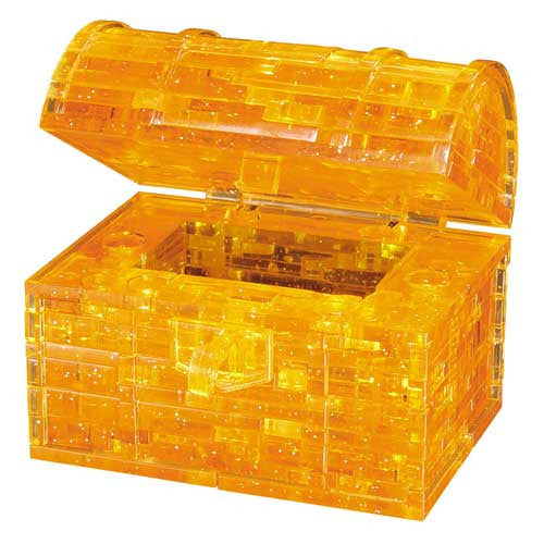 BePuzzled 3D Crystal Level 2 Treasure Chest Gold