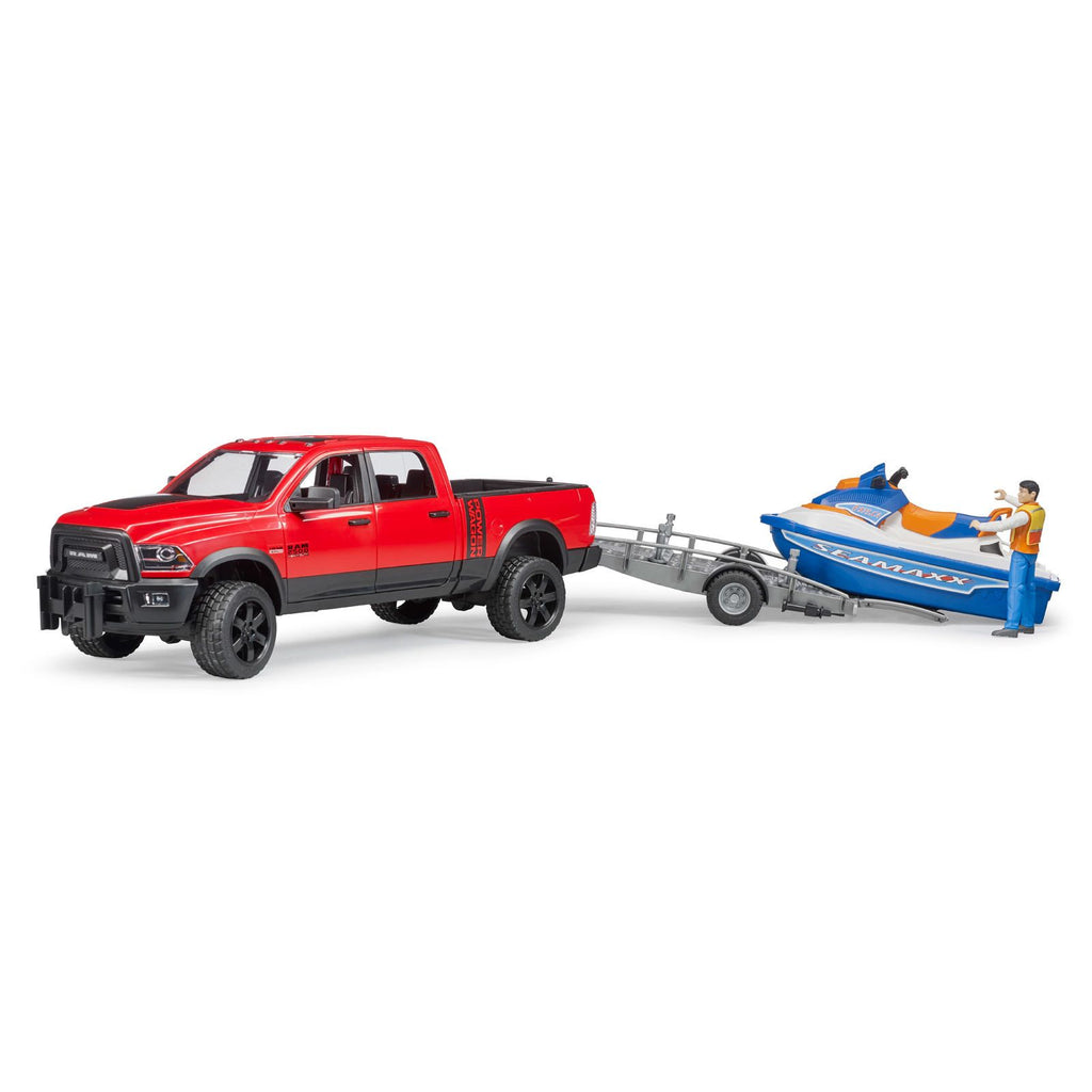 Bruder - 02503 | RAM 2500 Power Wagon with Trailer and Personal Watercraft with Driver