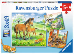 3 x 49 Piece Puzzle Cuddle Time - 08029