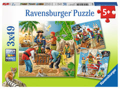 3 x 49 Piece Puzzle Adventure on The High Seas - 08030