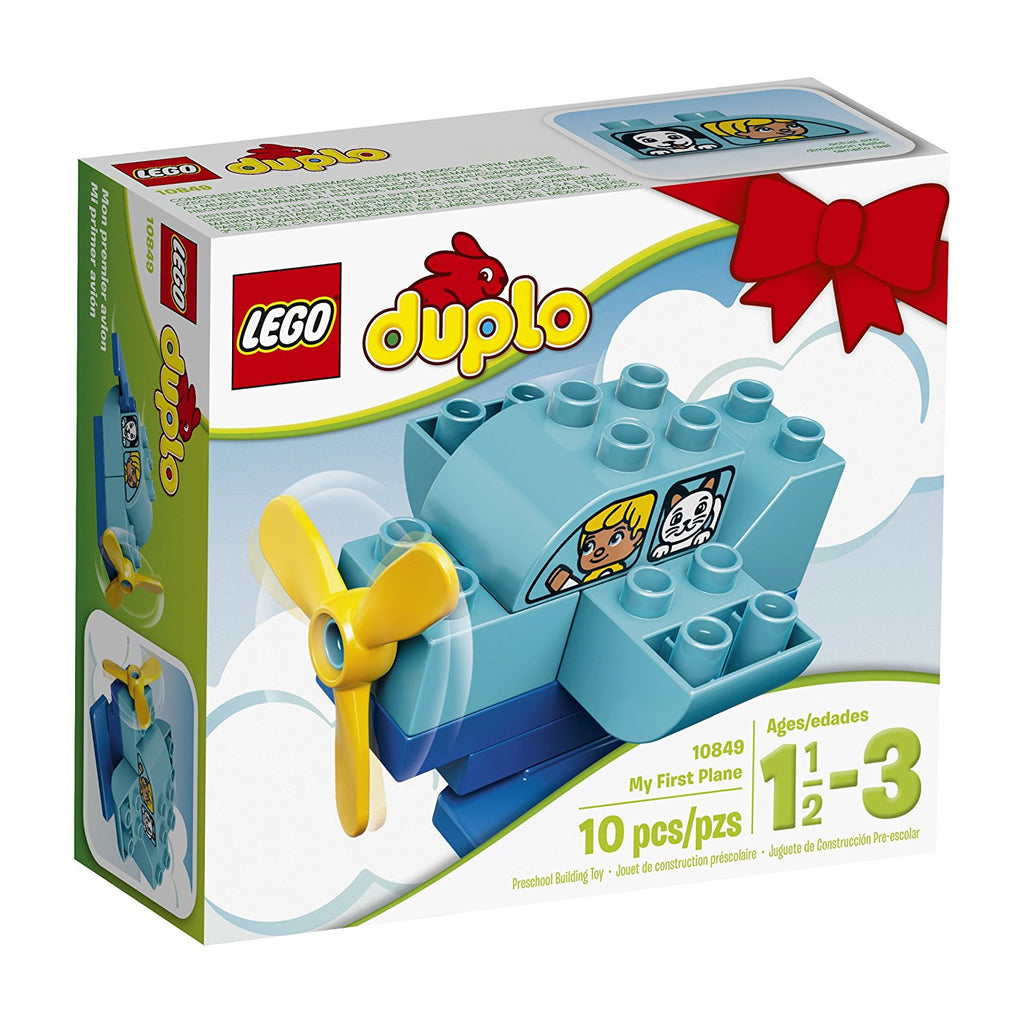 The LEGO DUPLO My First plane will keep little pilots entertained for hours. The easy build is great for developing fine motor skills and the window brick decorated with characters helps fire the imagination for stories and role-play. Once the plane has landed, it can also be rebuilt into a boat or helicopter! DUPLO bricks are specially designed to be fun and safe for little hands.