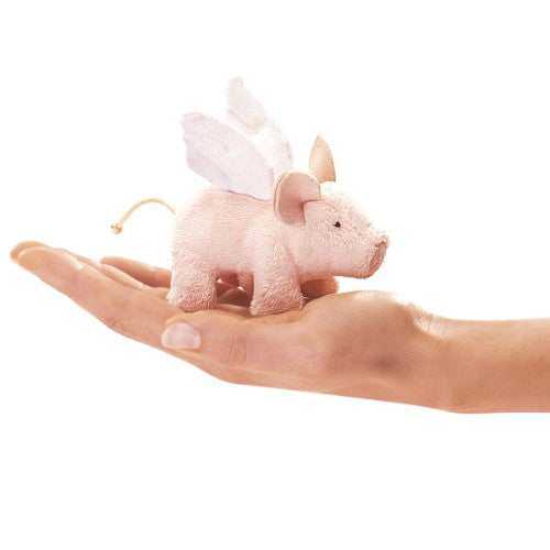 Folkmanis Puppets - 2685 | Mini Winged Piglet Finger Puppet