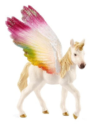 Schleich - 70577 | Bayala: Winged Rainbow Unicorn Foal