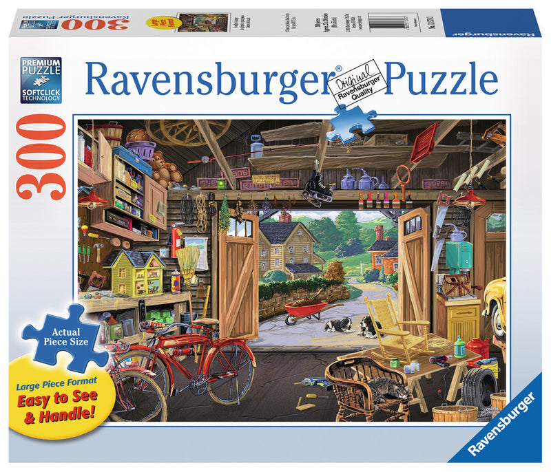 Ravensburger 300 Pieces Puzzle LG Grandpa's Garage - 13578