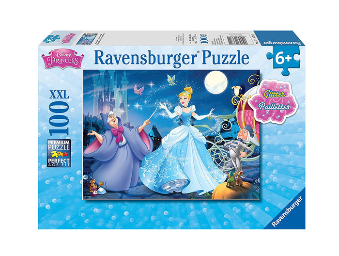 Ravensburger - 13671 | Disney Princess: Adorable Cinderella - 100 Piece Glitter Puzzle