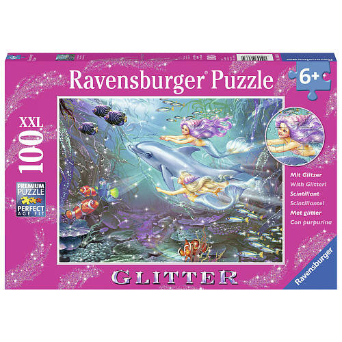 Ravensburger 100 Pieces Puzzle Little Mermaids - 13683