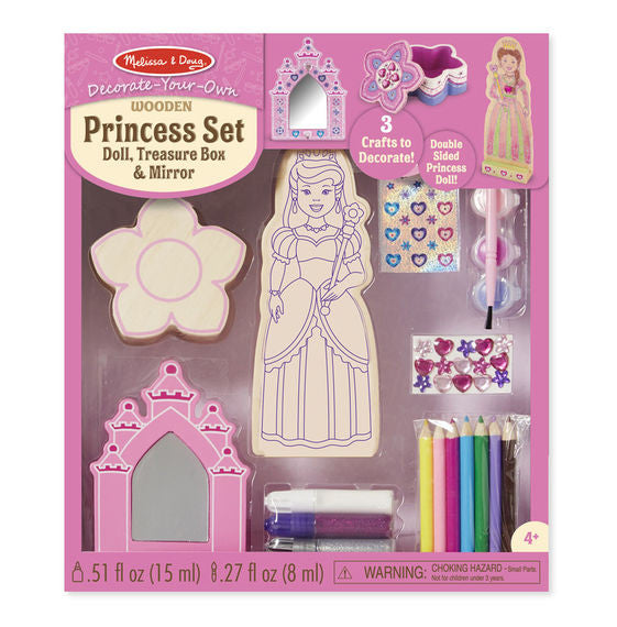 Melissa & Doug - Decorate-Your-Own: Princess Set