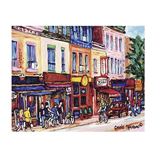 Enjoy a soothing Carole Spandau painting of St Laurent, Montreal, represented with rich colours and mood in this Ravensburger Canadian Collection puzzle.