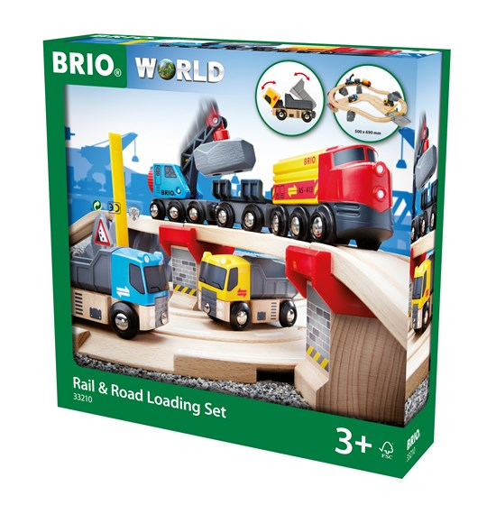 BRIO - 33210 | Rail And Road Loading Set