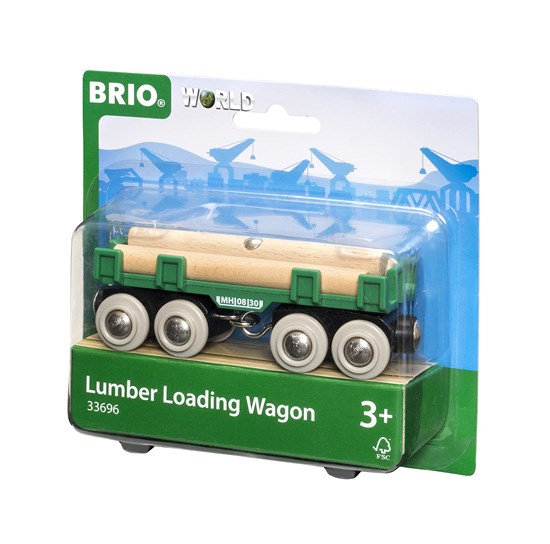 BRIO - 33696 | Lumber Loading Train Wagon