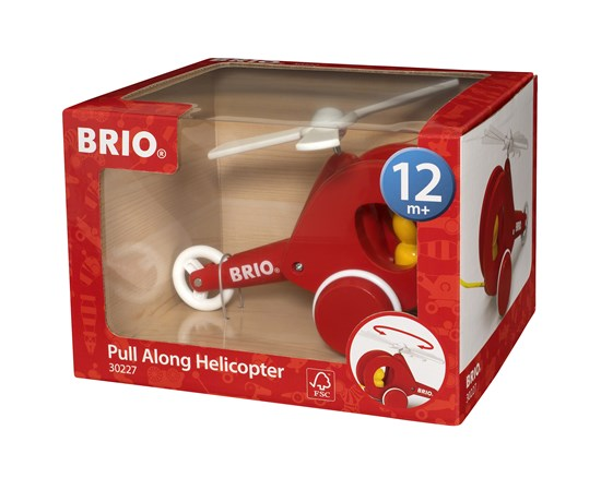 BRIO - 30227 | Pull Along Helicopter Red