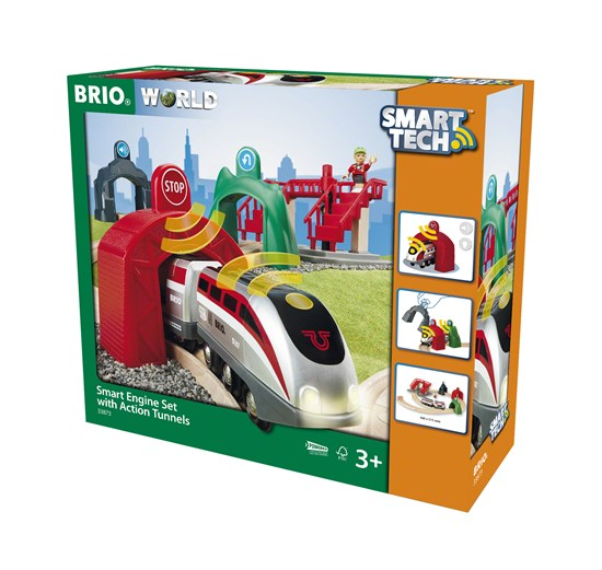 BRIO - 33873 | Smart Engine Set with Action Tunnels