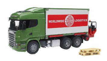 Bruder Scania R-Series Cargo Truck With Forklift - 03580