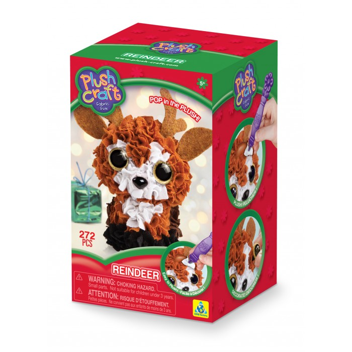 Orb Factory - 75248 | PlushCraft: Reindeer Fabric Fun Mini Kit