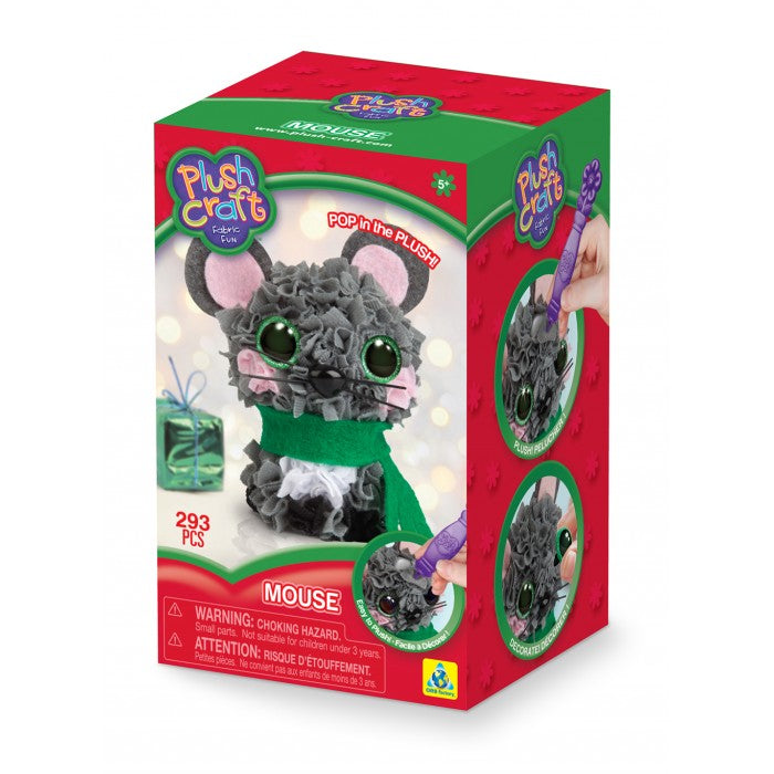 Orb Factory - 76566 | PlushCraft: Mouse Fabric Fun Mini Kit