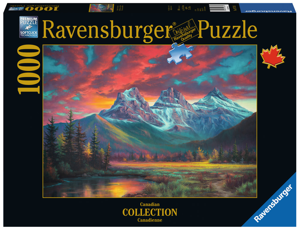 Ravensburger - 19736 | Alberta's Three Sisters 1000 PC Puzzle