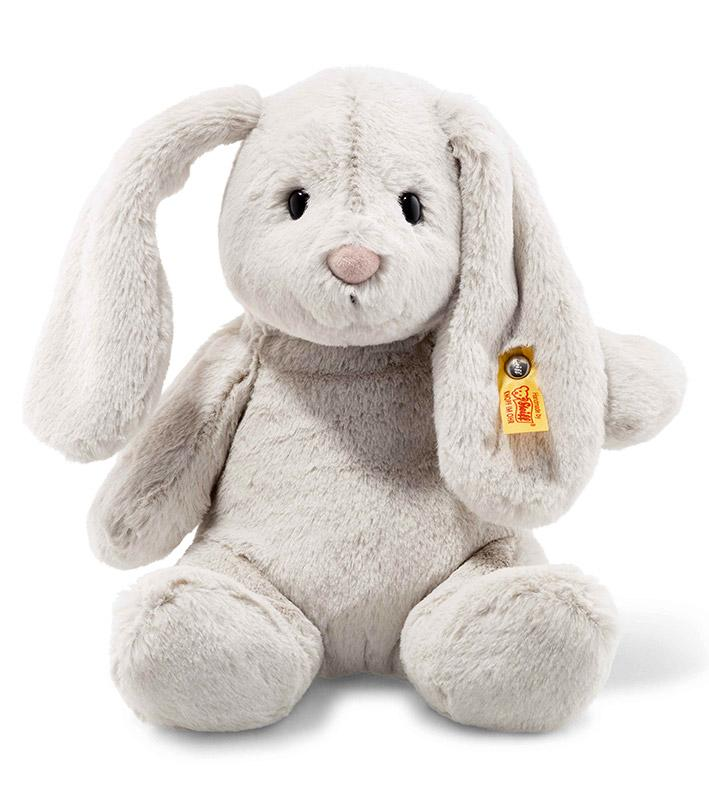 Hoppy Rabbit Plush Light Grey