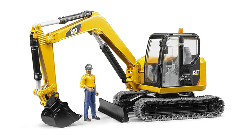 Bruder - 02467 | Construction: CAT Mini Excavator With Worker
