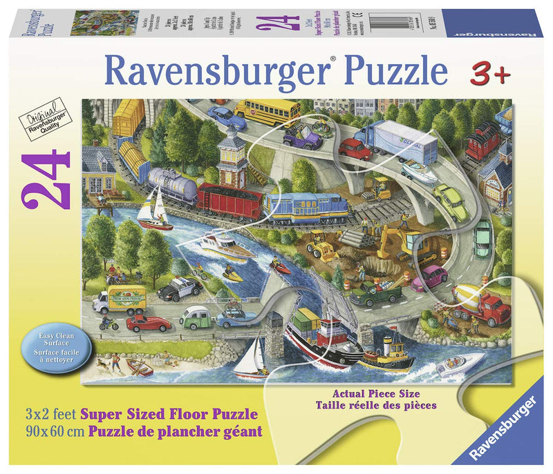 Ravensburger - 05560 | 24 Piece Floor Puzzle Vacation Hustle