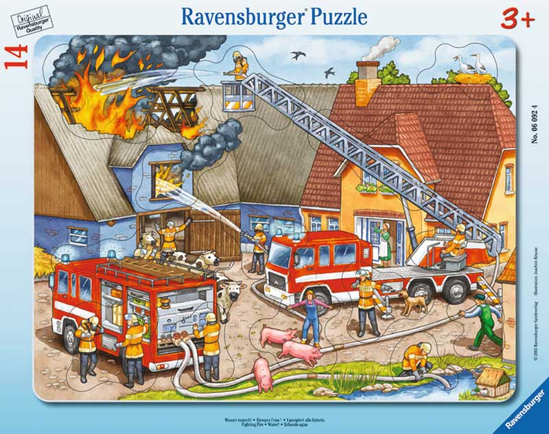 Ravensburger - My First Frame Puzzle: Fighting Fire 14 Piece Puzzle