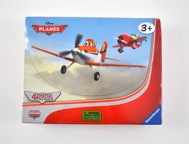 Ravensburger - Disney Planes: In the Air - 4 Shaped Puzzles In A Suitcase Box (10, 12, 14, and 16 piece puzzles)