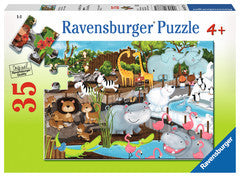 Ravensburger 35 Pieces Puzzle Day At The Zoo - 08778