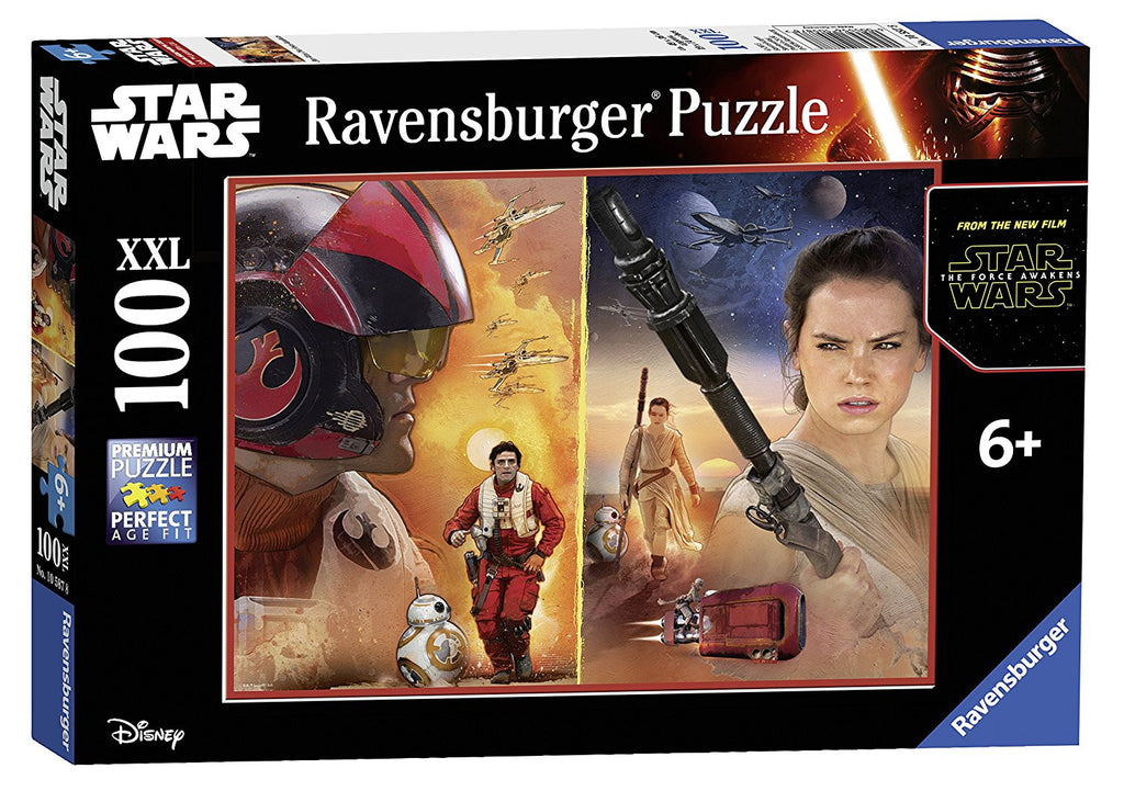 Ravensburger 100 Pieces Puzzle Star Wars Poe & Rey - 10587