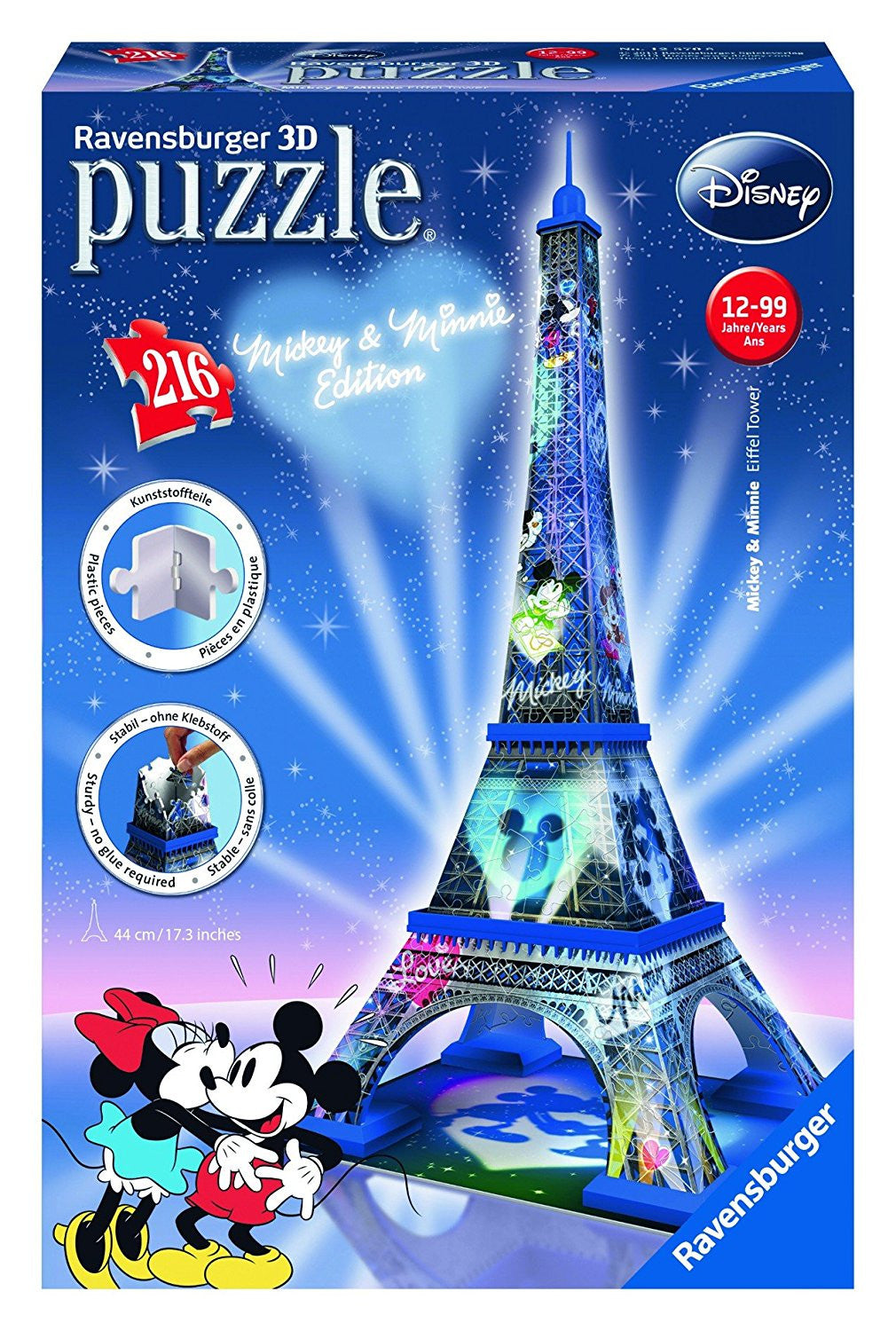 Ravensburger 216 Pieces Puzzle 3D Mickey & Minnie - 12570