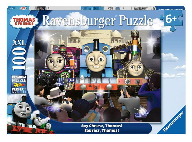 Ravensburger - 12846 | Say Cheese Thomos the Train 100 Piece Puzzle