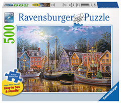 Ravensburger 500 Pieces Puzzle LG Ships Aglow - 14912