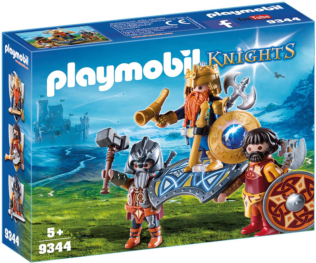 Playmobil - 9344 | Knights: Dwarf King with Guards