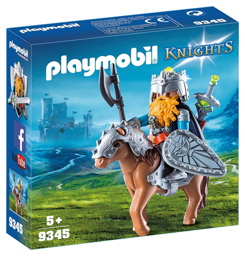Playmobil - 9345 | Knights: Dwarf Figher with Pony