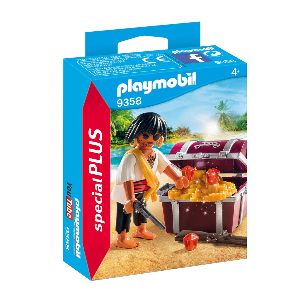 Playmobil - 9358 | Special Plus: Pirate with Treasure Chest
