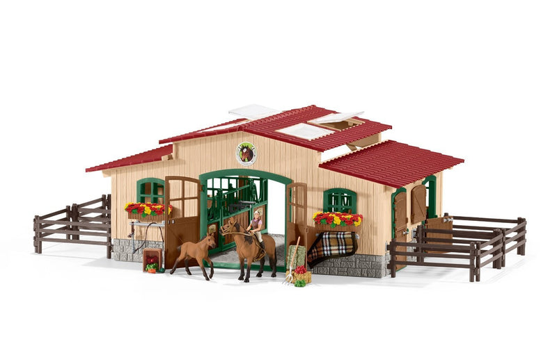 Schleich Stable With Horses And Accessories - 42195
