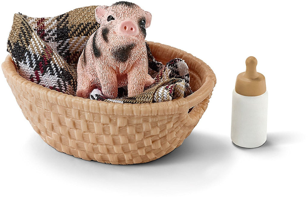Schleich Mini-Pig With Bottle - 42294