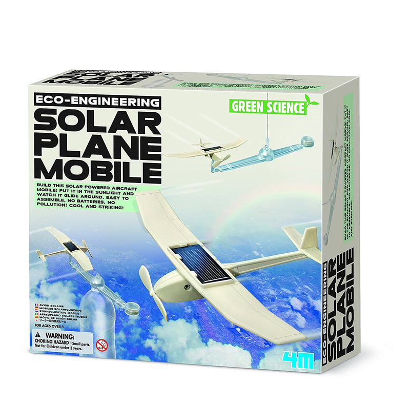 4M Green Science Eco-Engineering Solar Plane Mobile - P3376