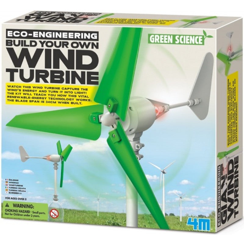 4M Green Science Eco-Engineering Build Your Own Wind Turbine - P3378